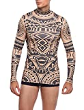 COOFANDY Men's African Tribal Tattoo Thermal