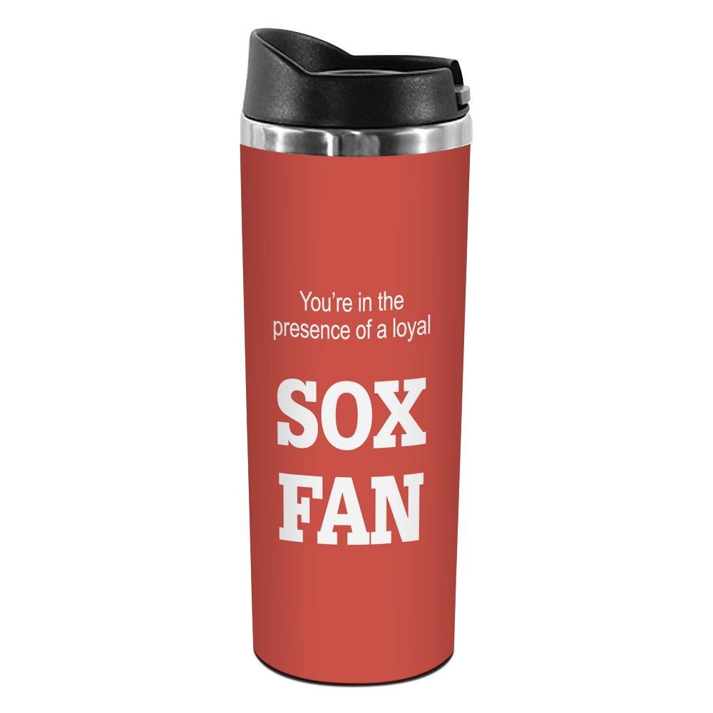 Tree-Free Greetings TT02080 Sox Baseball Fan 18-8 Double Wall Stainless Artful Tumbler 14-Ounce