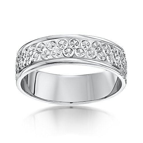 Theia Bague Or - 375/1000 Or blanc Unisexe - Taille 61 (19.4)