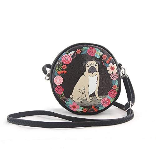 ashley-m-floral-pug-crircular-crossbody-bag-in-vinyl-material