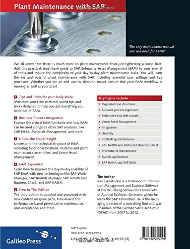 amazon com plant maintenance with sap practical guide 2013 rh amazon com SAP Plant Maintenance Module Training SAP Plant Maintenance Tables