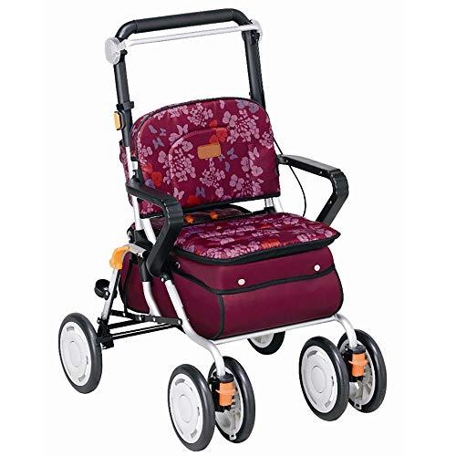 DWhui Folding Shopping Cart Seat Four-Wheeled Trolley ()