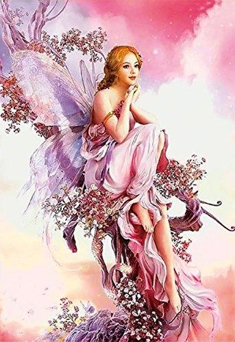 Gracefulvara Fairy Butterfly Diamond Embroidery Painting Home Decor Cross Stitch DIY (Fairy Angel Art)