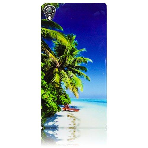 Caso Caja del teléfono Sony Xperia ion LT28i TPU silicona París La Tour Torre Eiffel Protección Diseño de parachoques del caso thematys® Strand Meer Beach