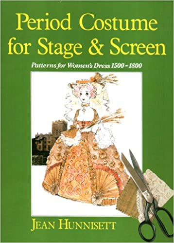 Cover Art for Period Costumes for Stage & Screen 1500-1800 by Jean Hunnisett
