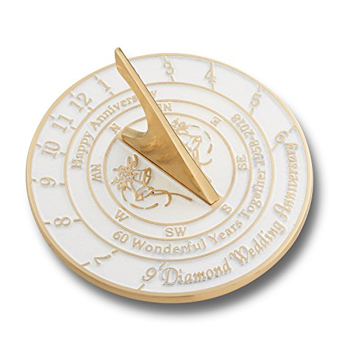 Looking For The Best 60th Diamond Wedding Anniversary Gift? This Unique Sundial Gift Idea Is A Great Present For Him, For Her Or For A Couple To Celebrate 60 Years Of Marriage