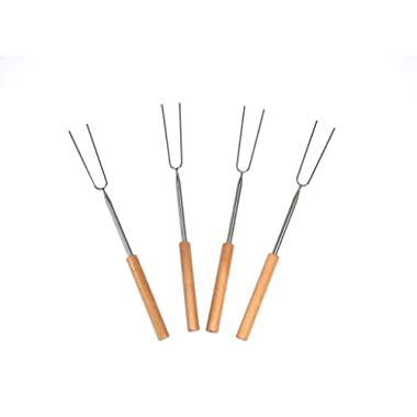 Telescoping Marshmallow Fire Roaster Sticks 4 Set