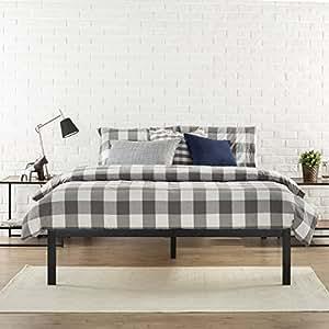 Zinus Modern Studio 14 Inch Platform 1500 Metal Bed Frame / Mattress Foundation / no Boxspring needed / Wooden Slat Support / Good Design Award Winner, Black, Queen