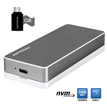 nvme Carcasa PCIe M.2 SSD Box, USB 3.1 de alto rendimiento ...