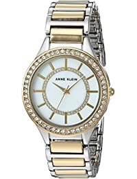 Women's AK/2723MPTT Swarovski Crystal Accented Two-Tone Bracelet Watch