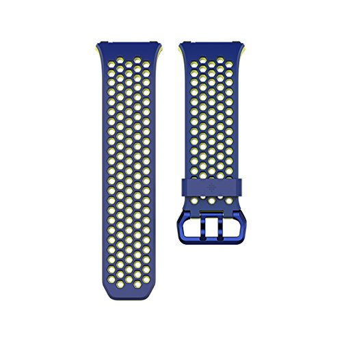 Fitbit Ionic Accessory Sport Band, Blue/Yellow, Large ()