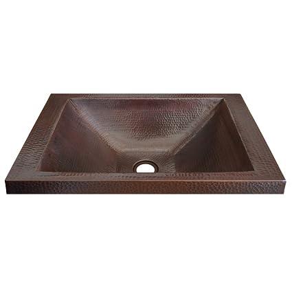 Drop In Bathroom Sinks | Native Trails Cps242 Hana Copper Drop In Bathroom Sink
