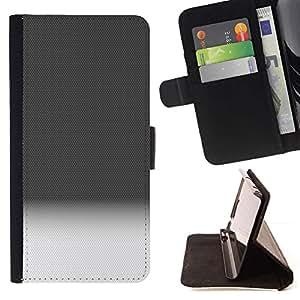 For Sony Xperia M2 Case , Patrón Degradado Negro Blanco Horizonte Limpio- la tarjeta de Crédito Slots PU Funda de cuero Monedero caso cubierta de piel