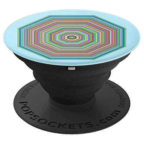 The Hypnotic Octagonal Tunnel - PopSockets Grip and Stand for Phones and Tablets