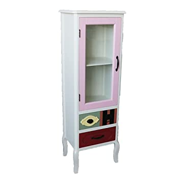 Amazon.com: FPigSHS Wine Cooler Showcase Glass Cabinet ...