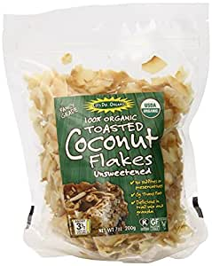 Let's Do Organic Unsweetened Coconut Flakes, Toasted, 7 Ounce (Pack of 12)