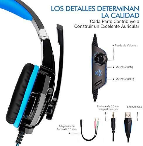 LonEasy Auriculares para Juegos, Auriculares para Juegos con Aislamiento de Ruido con Cable de,Control del Volumen audifonos Gaming. 8