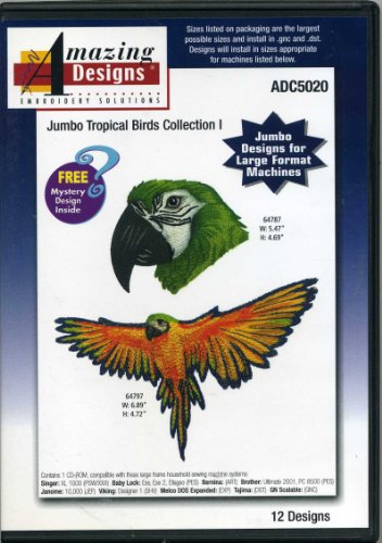 Jumbo Tropical Birds Collection I 12 Designs Amazing Designs Embroidery Solutions