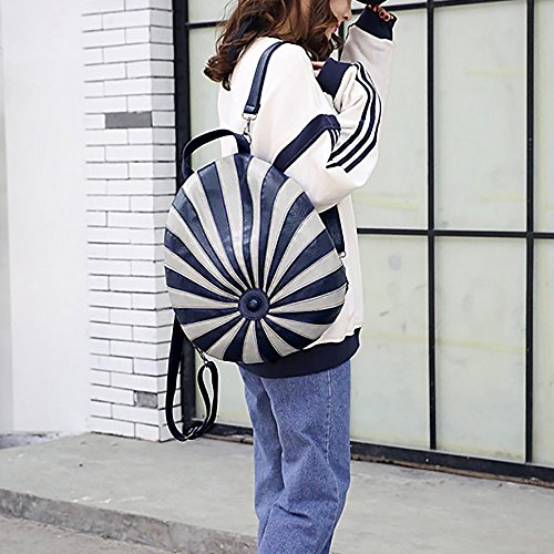 Casual Shoulder Design 1 Washed Fashion Theft Blue Anti Grey Daypack UTO Bag Backpack Shape Multicolor PU Ladies Leather Hat amp; xY8wCaw6