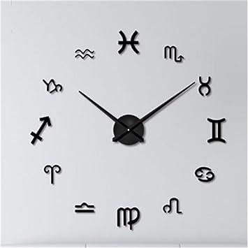 Amazoncom 12 Zodiac 3D DIY Wall Mount Clock Acrylic Wall Sticker