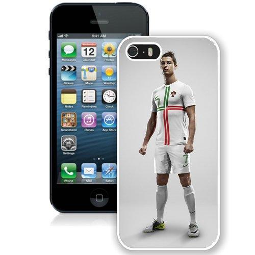 Coque,Fashion Coque iphone 5S Cristiano Ronaldo Football Star blanc Screen Cover Case Cover Fashion and Hot Sale Design