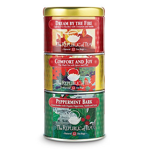 (The Republic Of Tea Holiday Stackable Tea, 36 Tea Bags, Holiday Tea Collection)