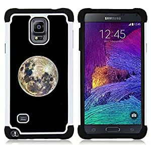- moon crater colorful bright full - - Doble capa caja de la armadura Defender FOR Samsung Galaxy Note 4 SM-N910 N910 RetroCandy