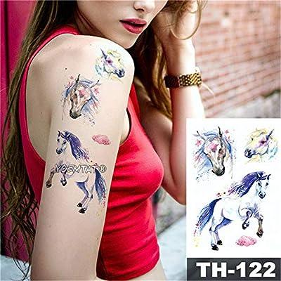 tzxdbh 5pcs-Flor geométrica Ojo de Rosa Deja Impermeable Tatuaje ...