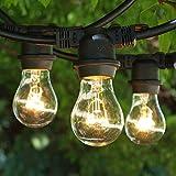 String Light Outdoor 100 ft Black - Clear A15 Bulbs - Medium Base