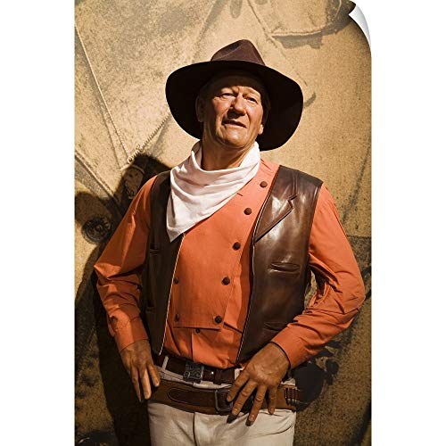 CANVAS ON DEMAND John Wayne, Madame Tussauds Wax Museum at Venetian Casino Wall Peel Art Print, 20