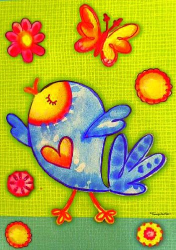 Tweety Bird - Small Summer Garden Flag -12.5 X 18 for Porch