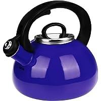 Whistling Tea Kettles, AIDEA 2.3 Quart Ceramic Tea Kettle for Stovetop, Enameled Interior Tea Pot for Anti-Rust, Audible…