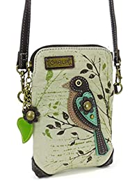 Dazzled Crossbody Cell Phone Purse - Women Faux Leather Multicolor Handbag with Adjustable Strap