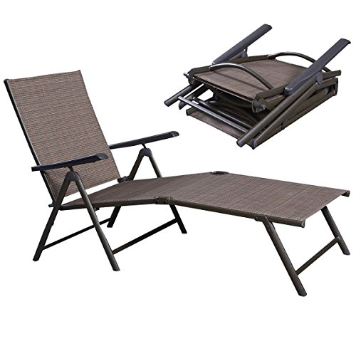 Patio Furniture Chair Outdoor Recliner Lounge Pool Reclining Adjustable Outdoor Lounger Garden (Costco Lounger Relax)