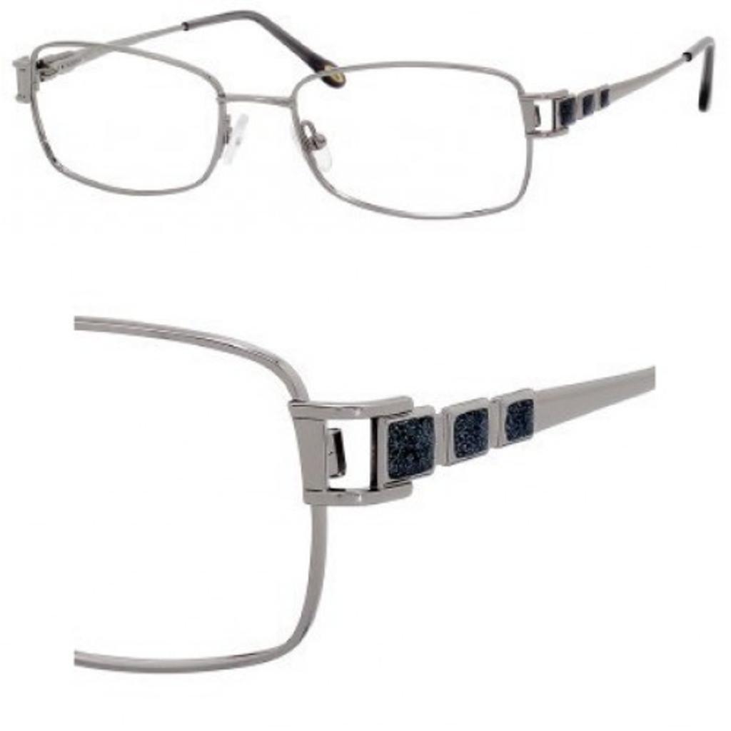 SAFILO EMOZIONI Eyeglasses 4349 0RB4 Ruthenium 52MM