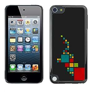 LECELL--Funda protectora / Cubierta / Piel For Apple iPod Touch 5 -- Resumen elefante --
