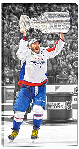 Ovechkin,A 14x28 Canvas 2018 Stanley Cup Celebration