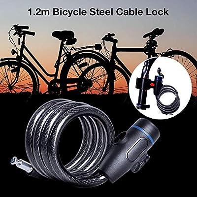 PITCHBLA 1.2 M Cerradura de bicicleta Cerradura de cadena de ...