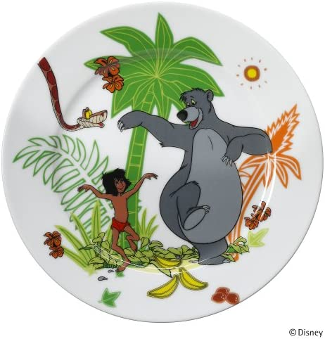 WMF Disney Dschungelbuch Kindergeschirr Kinderteller, Ø 19,0 cm, Porzellan, spülmaschinengeeignet, farb- und lebensmittelecht