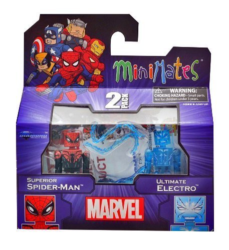 Marvel Minimates 2-Pack: Superior Spider-Man and Ultimate Electro (Spider Man Electro Costume)
