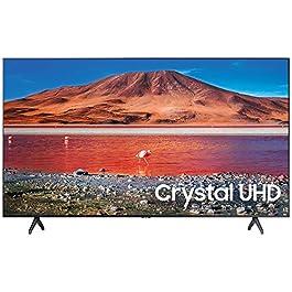 SAMSUNG UN43TU7000 43″ 4K Ultra HD Smart LED TV (2020) with Deco Gear Soundbar Bundle