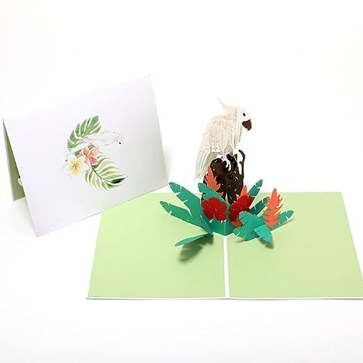 Fogun 3D Narciso Pop Up Tarjetas Papel Regalo Cumpleaños ...