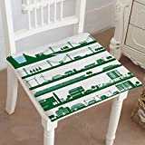 Mikihome Indoor/Outdoor All Weather Chair Pads Energy Power Grid Seat Cushions Garden Patio Home Chair Cushions 16''x16''x2pcs