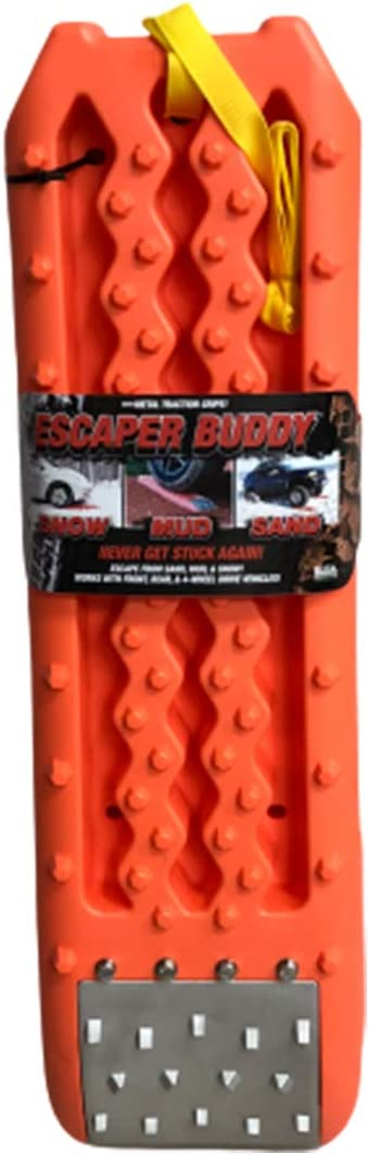 Escaper Buddy Traction Mat with Metal Grips for Sand, Mud, Ice and Snow, 2 Pack
