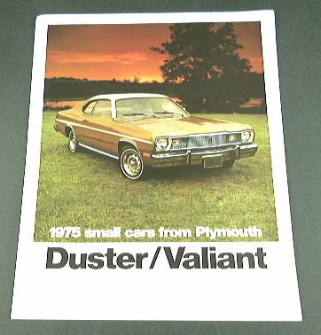 1975 75 Plymouth DUSTER VALIANT BROCHURE 360 Scamp