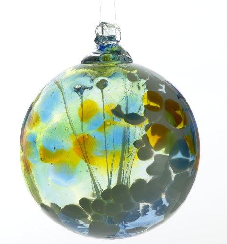 Kitras 6-Inch Fairy Orb Art Glass, Light Blue ()