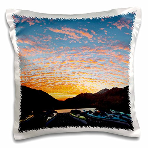 - Danita Delimont - Kayaking - Sea kayaks, Puerto Balandra, Sea of Cortez, Mexico - SA13 GLU0088 - Gary Luhm - 16x16 inch Pillow Case (pc_141520_1)