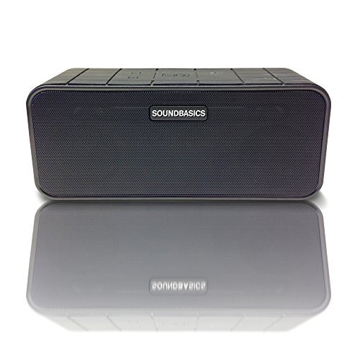SoundBasics Bluetooth Speaker With Subwoofer | Portable System for all Smartphones, iPads, Tablets, Laptops, Desktop Pc's | Rated Best for it's Sound and its Price Range