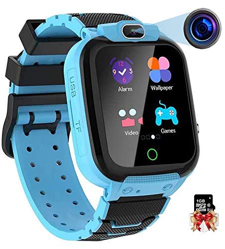 Vannico Orologio Intelligente Bambini con 7 Giochi, Musica MP3 Smartwatch Bambini con Video Fotocamera 10MP Touch Screen Cronometro Sveglia, Regalo Ragazzo e Ragazza