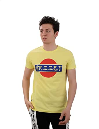 White Rabbit SliM-Fit Japan Flag Print T-shirt for Men XL